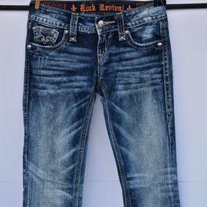 Rock Revival Alanis Denim Boot Cut Jeans 25 x 34